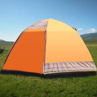户外自动帐篷3-4人防雨加厚2人露营野营六角家庭自驾游