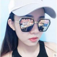 新款潮明星款眼镜户外新品网红同款新款圆形优雅太阳镜男士圆脸韩版个性