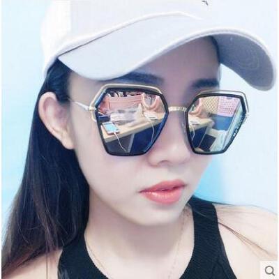 新款潮明星款眼镜户外新品网红同款新款圆形优雅太阳镜男士圆脸韩版个性 品质保证 售后无忧