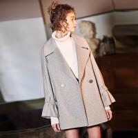 [2.5折价229元]唐狮冬季新款毛呢外套女流行大衣呢子森系学生韩版冬天小个子