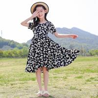 女童短袖连衣裙夏装中大童夏季儿童碎花裙子
