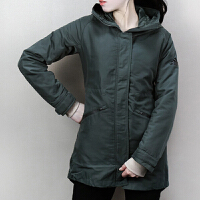 Adidas阿迪达斯 女子 运动中棉夹克 透气休闲连帽外套 BQ8687