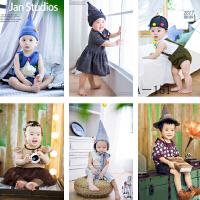 20180510577新款韩版女孩百天宝宝男孩儿童摄影服装影楼照相拍照正版服饰