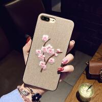 苹果X手机壳手挂绳8plus保护套iPhone7软壳女款i6s花
