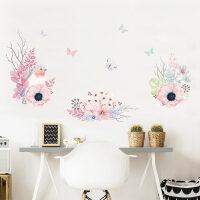 墙画贴纸小清新墙纸卧室装饰品客厅温馨墙上贴画房间床头壁纸自粘墙饰墙画 鸟与花卉 特大