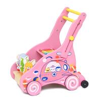 宝宝学步车手推车儿童助步车玩具学步宝宝小孩木质6-18个月