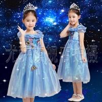 迪士尼同款花童婚纱礼服生日蓬蓬裙演出服  六一儿童灰姑娘公主裙