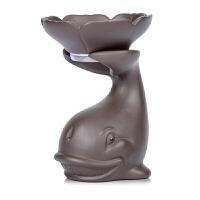 唐丰创意茶滤过滤茶具茶道配件摆件陶瓷可养喷水茶宠家用个性茶漏