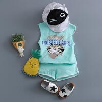 童装男宝宝夏天衣服套装0-1-2-3-4岁背心套装婴幼儿