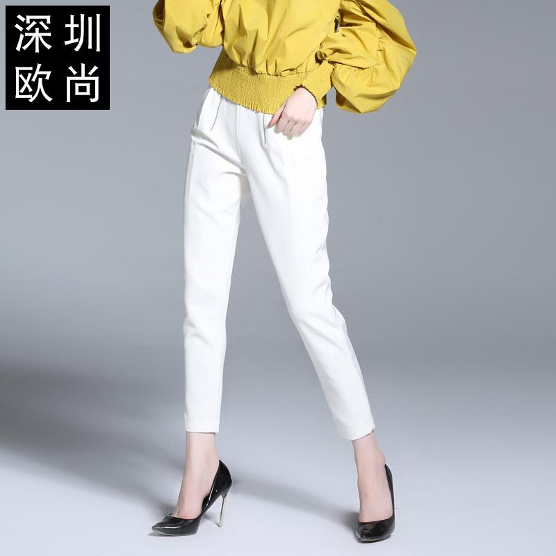 女裤子新款年春装女打底裤欧美女装时尚显瘦休闲裤 一般在付款后3-90天左右发货,具体发货时间请以与客服协商的时间为准