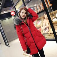 女中长款韩版棉衣女装冬装新款潮孕妇装棉袄大码冬季外套