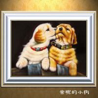 5D可爱狗狗情侣动物满钻石画点钻十字绣客厅卧室钻石绣2018砖石秀