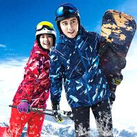 冬季男女滑雪衣裤套装防风防水情侣单板双板滑雪服保暖防寒棉衣