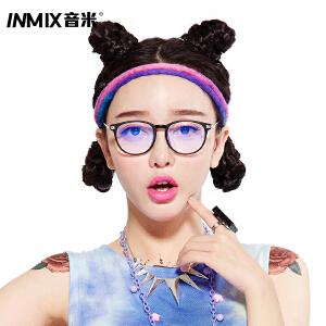 inmix音米防辐射眼镜电脑镜男款游戏护目镜 可配近视蓝光眼睛女 2341