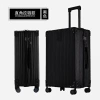 复古直角铝框拉杆箱26旅行箱万向轮24学生行李箱密码登机男女20寸