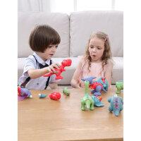 蛋宝乐磁力拼装恐龙玩具霸王龙翼龙三角腕龙仿真动物男孩儿童礼物