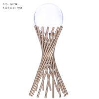 欧式简约家居客厅酒柜装饰品奢华创意金属铁艺工艺品水晶球摆件