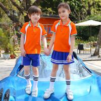 儿童演出服幼儿园园服夏装老师小学生校服学院英伦风短袖运动套装