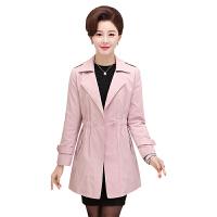 妈妈装韩版风衣女中长款2017春装新款中老年女装秋季外套40-50岁