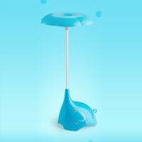 迷你夜用充电池小夜灯卧室床头睡觉台灯小象可爱婴儿触摸调光创意 蓝色 送USB充电线