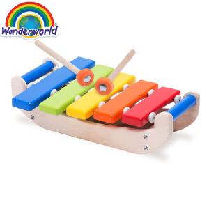 [当当自营]泰国Wonderworld 木琴 儿童启蒙乐器 1岁以上 益智玩具  木质玩具