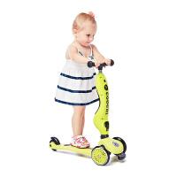 [当当自营]酷骑COOGHI儿童滑板车3轮车 二合一多功能 平衡车 滑滑车 1-5岁 柠檬黄