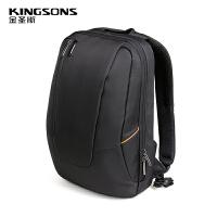 防震双肩电脑包15.6寸男商务笔记本电脑包背包防水 黑色