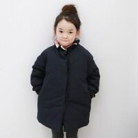 亲子装冬装外套韩版女童宝宝中长款保暖中大童母女装加厚棉衣