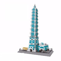 小颗粒世界建筑物拼装积木天坛凯旋门比萨斜塔仿真模型男孩女孩玩具