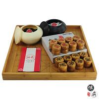 全竹围棋/象棋盘+围棋罐+云子+中国象棋 围棋/象棋套装