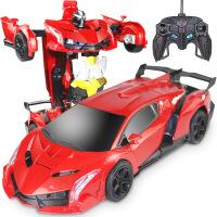 儿童玩具男孩感应变形遥控汽车布加迪赛车可充电动机器人