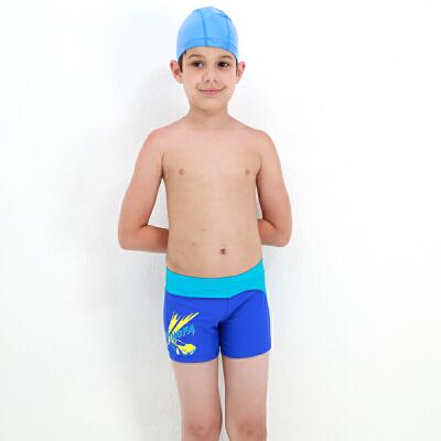 YINGFA英发 儿童舒适泳裤Y0212 男童松紧系带卡通图案平角泳裤