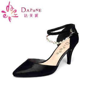 达芙妮春夏款 高跟套脚包后跟一字扣单鞋1015102020