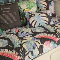四季通用沙发垫时尚花卉布艺沙发巾沙发套 艳冠群芳