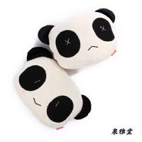 汽车毛绒颈枕 可爱熊猫头枕 车用护颈枕 汽车头枕 座椅头枕 单只