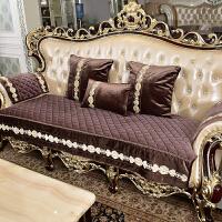 家纺 2017秋冬新款沙发套欧式沙发垫客厅美式布艺真皮沙发坐垫通用沙发套