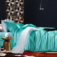 伊迪梦家纺 80支纯色天丝四件套 春夏季爽滑夏凉双面素色色织纯天丝床单被套床上用品MD082