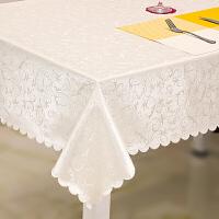 欧式餐桌布水烫油免洗长方形茶几布 酒店圆桌布方台布j