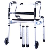 卫宜康助行器老人带座四脚行走折叠助步器手推车残疾人偏瘫助走器拐杖