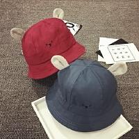 儿童渔夫帽夏天遮阳帽盆帽宝宝帽子1-2岁防晒太阳帽男女童婴儿帽