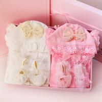 公主范婴儿礼盒双胞胎女宝宝春夏衣服新生儿礼盒套装满月百天*