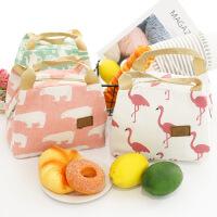 帆布保温保鲜包饭盒包手提包女手提便当包饭盒袋带饭包保温包