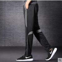 运动裤男户外新品薄款速干跑步足球训练宽松休闲拉链长裤冰丝空调裤子