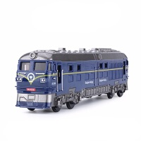 怀旧绿皮火车模型蒸汽内燃机车儿童玩具惯性小汽车仿真东风火车头