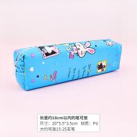 PU帆布卡通笔袋女大容量男铅笔盒韩国简约儿童文具袋幼儿可爱小清新学生用品