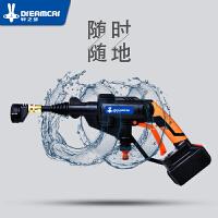 汽车充电式车载洗车器洗车泵高压水枪家用锂电池无线洗车机12v便携水泵