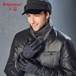 皮手套男士冬季骑车保暖山羊皮分指手套触摸手套加厚防风防滑手套2804