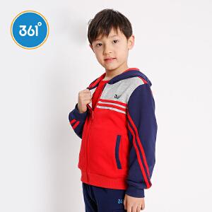 361度童装男童外套连帽针织外套2018年秋季儿童外套上衣N51812403