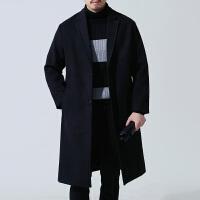 2017新款秋冬男士双面羊绒大衣韩版风衣男休闲宽松中长款呢子外套
