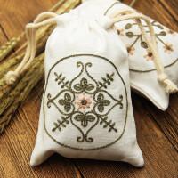 刺绣手工布艺DIY刺绣材料包香囊袋束口袋香包零钱包手机袋